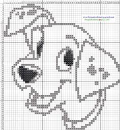 pattern dibujos punto de cruz more dalmatians hama dalmatians pattern Hama Beads Patterns, Beading Patterns, Embroidery Patterns, Knitting Charts, Baby Knitting, Cross Stitching, Cross Stitch Embroidery, Cross Stitch Designs, Cross Stitch Patterns