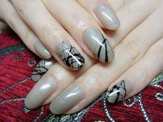 Artsy nails.