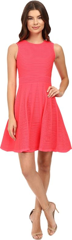Ted Baker Women's Malou Ottoman Detailed Dress Mid Orange Dress. Ted Baker Women's Size Guide. A dainty and lady-like dress perfect for classy occasions!. Fit-and-flare dress on a textured fabrication. Round neckline. Sleeveless design. Exposed back zipper closure. Fully lined. Straight hemline. 99% polyamide, 1% elastane;Lining: 95% polyester, 5% elastane. Hand wash cold, dry flat. Imported. Measurements: Length: 36 in Product measurements were taken using size 1 (US 2). Please note that...