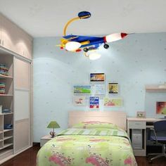 light fixture for childrens room Decor Color Ideas Best Sell Children Room Lamp Ceiling Lamp Light aircraft Furniture Design Table Lamps For Bedroom, Boys Bedroom Decor, Room Lamp, Childrens Room Decor, Kids Room Lighting, Room Lights, Bedroom Lighting, Ceiling Lights, Kids Beds For Boys