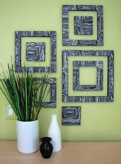 This is a DIY wall decor.  It is art foam (from any local arts and crafts store) with a textured, decorative paper glued on top.  Use an X-acto knife to cut shapes, and mount the light weight art on your walls :) kelleymares