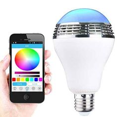 This multicolored LED lightbulb with a built-in Bluetooth speaker that you can control from your phone ($29.19).