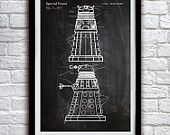 Doctor Who - Dalek 1964 - Action Figure Toy - Patent Print Poster Wall Decor - 0031