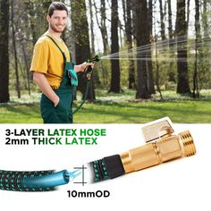 100 ft Expandable Garden Hose ** (paid link) Check out this great product.