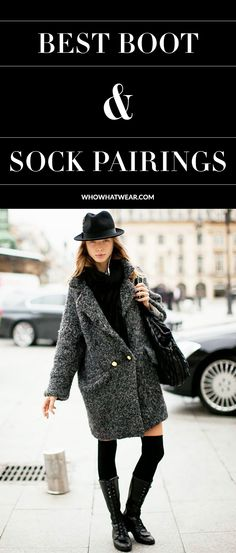11 stylish sock & boot combinations to try this fall and winter.