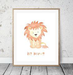 Lion Animal print Nursery decor Print Kids prints by PrintsByCeci