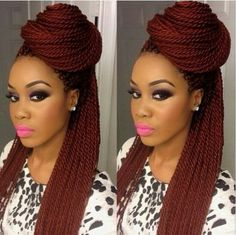 I'm in love with this color! Crochet Braids Hairstyles, African Hairstyles, Braided Hairstyles, Prom Hairstyles, Senegalese Twist Hairstyles, Hairstyles Videos, Trendy Hairstyles, Braids Wig, Twist Braids