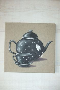 Dibujos cocina on pinterest fancy cakes patisserie and - Peinture sur lin ...