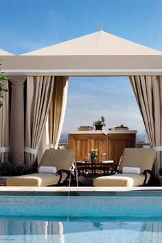 Rooftop Pool Cabanas at Montage Beverly Hills