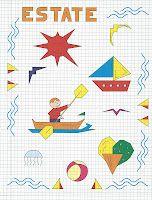 Giochi e colori !: CORNICETTE : LE STAGIONI (Copia il modello e riproduci le cornicette e i disegni legati alle stagioni) Blackwork, Art N Craft, Graph Paper, Pictures To Draw, Learn To Draw, Kids Learning, Art For Kids, Cross Stitch, Arts And Crafts