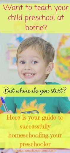 Teach Preschool at home | Preschool | Home school | Guide to teaching |