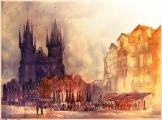 Beautiful Watercolor Paintings of European Landmarks - My Modern Metropolis
