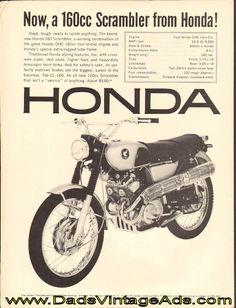 1966 Honda 160 Scrambler CL160