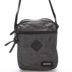 novinka Šedá pánská taška přes rameno Enrico Benetti. Tato sportovně  elegantní taška skvěle doplní 0fe202edc6