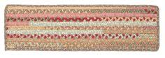 Olivera Rectangle Braided Cotton Blend Stair Tread, OV69 Light Parsley