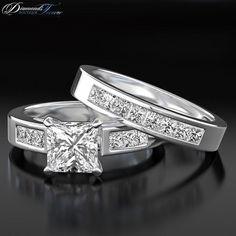 Half Eternity Wedding Band Diamond Ring by DiamondsJewelForever, $4552.85