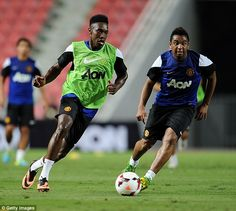 Danny Welbeck is United's first choice striker in Bangkok