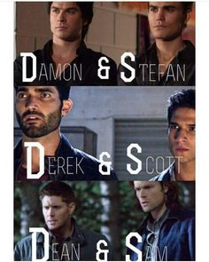 Dean and Sam would kick all of their asses, but probably get along with Derek and Scott in the end. Damon and Stefan can die.