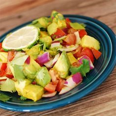 """Persian-Style Tomato Avocado Salad   """"This was a great simple side salad for many summer dishes. My son and I both thought it was great!"""""""