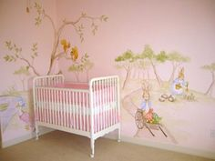 one of my friends has a peter rabbit themed nursery for their little girl & i absolutely love it. this is a girly version.