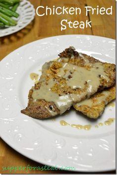 Chicken Fried Steak, Southern, Comfort Food, Alton Brown, Gravy, Beef, Steak