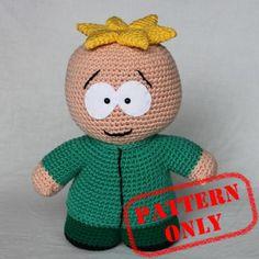 PATTERN ONLY! Butters Stotch South Park crochet pattern