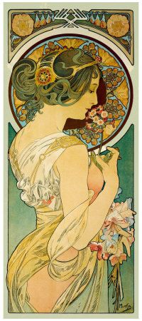 Flower, 1897 Giclee Print by Alphonse Mucha at AllPosters.com