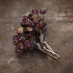 Valentino piccoli fiori viola orecchini argento di ewalompe