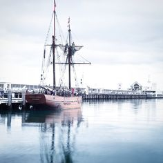 Old town old boats! Great to see the tall ship docked at Cunningham Pier this mornin. #dslrsfordummies #cunninghampier #pirateship #geelong #easternbeach by nckbrbr http://ift.tt/1JtS0vo