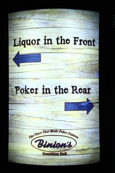 Whiskey Licker Patio Bar at Binion's Casino on Fremont St. in Classic Downtown Las Vegas!