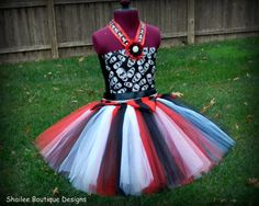 Pirate costume Tutu dress Beltheadband by ShaileeBoutique on Etsy
