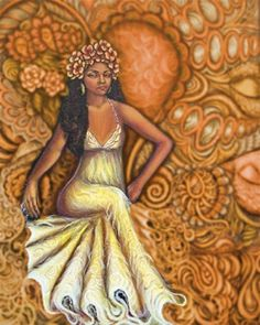 """When preparing an altar to Oshun, make sure it is pretty. The space should be clean and smell good. She loves yellow, amber and gold (brass will do if you can't afford gold). She likes to be called a """"goddess"""" and be praised. Be sure to tell her how wonderful she is!!! She loves pumpkins with honey and cinnamon. Be sure when offering honey to her."""
