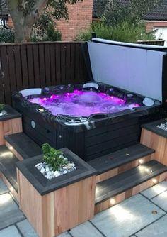 Hot Tub Gazebo, Hot Tub Garden, Hot Tub Backyard, Small Garden Jacuzzi, Jacuzzi Outdoor, Outdoor Spa, Outdoor Hot Tubs, Jacuzzi Tub, Kleiner Pool Design