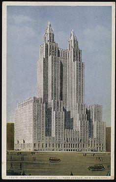 Detroit Publishing Company  (American). Waldorf-Astoria Hotel, Park Avenue, New York City, 1931–32. The Metropolitan Museum of Art, New York. The Jefferson R. Burdick Collection, Gift of Jefferson R. Burdick (Burdick 417, p.12r(3))  #newyork #nyc