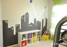 Superhero Boys Room~ we totally nailed this! @Erin McCormick & @Allison Raasch