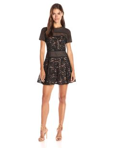 b4b549cc4f BCBGMax Azria Womens Eleanor Knit Evening Dress Black Combo 8   Click on  the image for