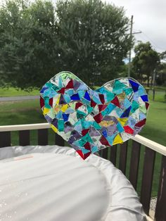 No grouting GOG heart suncatcher made for  my daughter