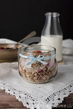 Muesli In Jar. - Download From Over 56 Million High Quality Stock Photos, Images, Vectors. Sign up for FREE today. Image: 88304499