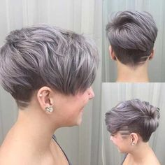 Grey hair or pixie cut? In this post you will find the best images of Pixie Haircut for Gray Hair that you will love! Pixie Cut Styles, Long Pixie Cuts, Short Hair Cuts, Short Hair Styles, Short Pixie, Dyed Pixie Cut, Asymmetrical Pixie, Long Pixie Hairstyles, Short Hairstyles For Women