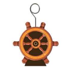 Party Supplies | Nautical Decorations | Ship Helm Photo Holder...Throw a nautical party to remember and decorate with this Ship's Helm Photo/Balloon Holder! Place fun photos between the wires or tie down balloons to get the perfect look for your party.