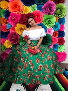 Fiesta Outfit, Fiesta Dress, Mexican Outfit, Mexican Skirts, Traditional Mexican Dress, Fiesta Theme Party, Outfits Mujer, Flower Skirt, Two Piece Dress