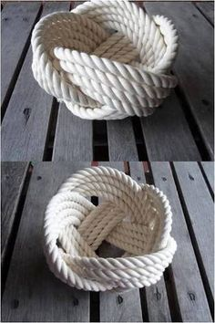 Resultado de imagem para cesto de corda redondo