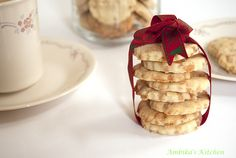 """Butterscotch Shortbread Cookies (Eggless)  A good shortbread can hardly be called a """"cookie"""".  It is more of a delicacy and a treat than a mere """"cookie""""."""