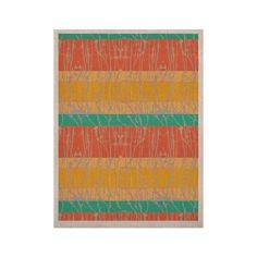 "Nina May ""Desert Splatter"" Orange Gold KESS Naturals Canvas (Frame not Included)"