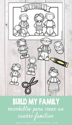 The Glitter Teacher: Family Day Activity - Activity to create a personalized family members chart and celebrate family day from the English ar - Family Day Activities, Preschool Family Theme, All About Me Preschool Theme, Preschool Class, Spanish Activities, Family Crafts, Preschool Learning, Kindergarten Activities, Teaching Kids