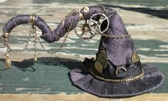 Steampunk witch hat by Moochiemomma
