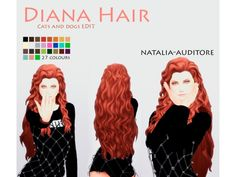 The Sims 4 Diana Hair by natalia-auditore