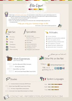 I design infographic resumes - I could do something like this infographic CV for you!