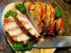 Pieczona szynka faszerowana - Blog z apetytem Meatloaf, Sandwiches, Blog, Blogging, Paninis