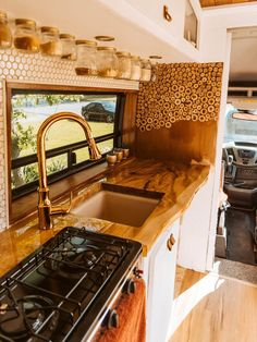 Van Conversion Interior, Camper Van Conversion Diy, Van Interior, Camper Interior, Ford Transit Camper Conversion, Van Conversion With Bathroom, Van Conversion Kitchen, Ford Transit Campervan, Sprinter Van Conversion